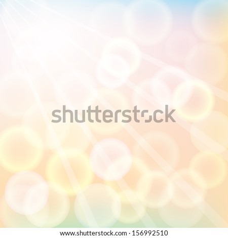 autumn sunshine. vector background. eps10 - stock vector