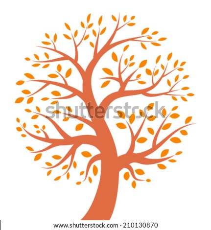 Autumn Tree icon, vector illustration, logo - stock vector
