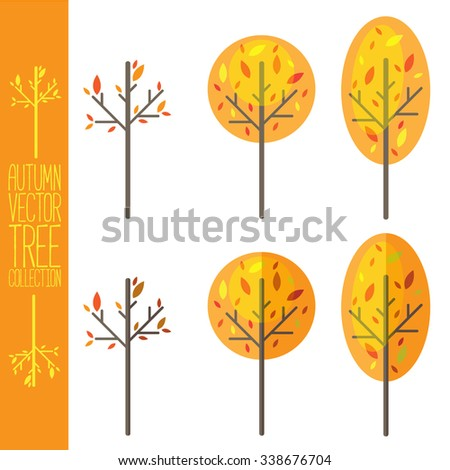 Autumn Vector Trees Collection
