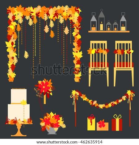 Wedding Arch Stock Vector 623089208