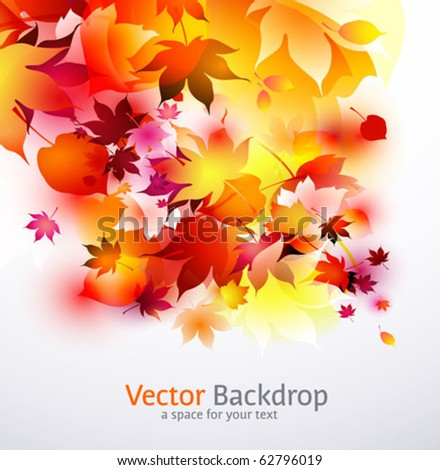 autumnal falling leaves background