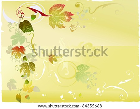 autumnal leaf background - stock vector