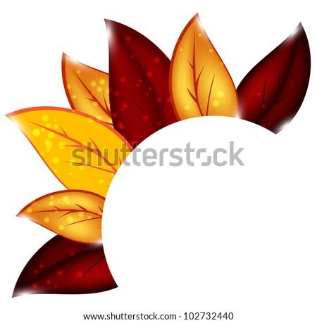 Autumnal leaf environmental background. Vector illustration - stock vector