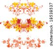 Autumnal ornaments - stock vector
