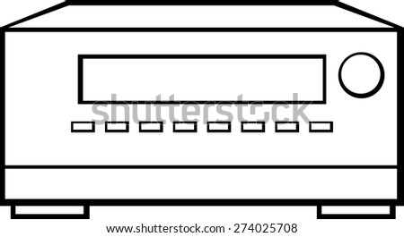 av receiver - stock vector