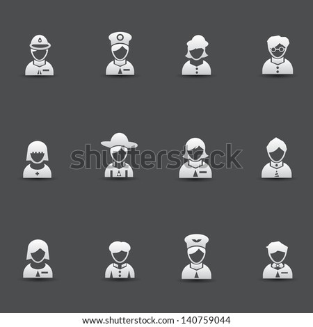 Avatar icons,vector - stock vector