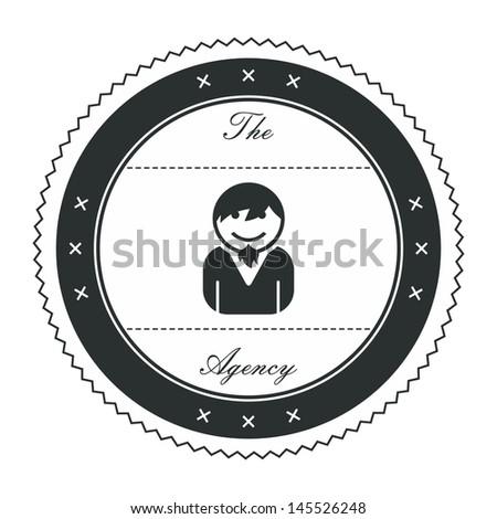 avatar label graphic art boy - stock vector