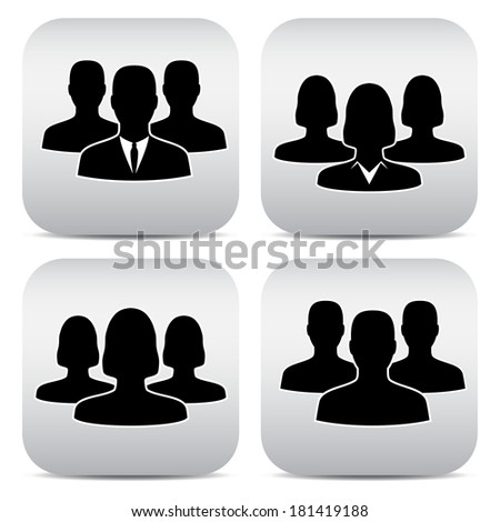 avatar office workers, men and women. - stock vector