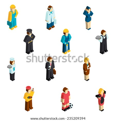 Handyman football player isolated vector illustration stock vector