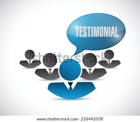 avatar testimonial illustration design over a white background - stock vector