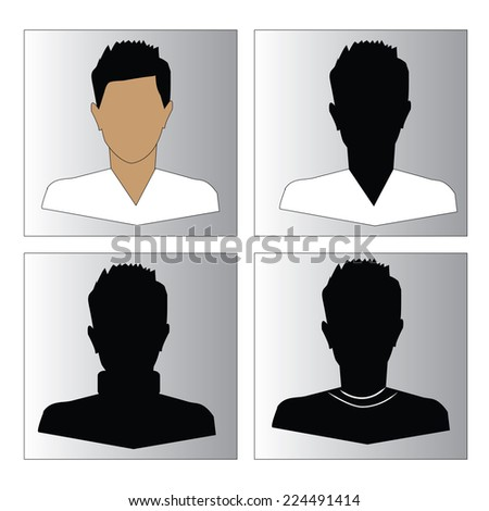 Avatars of male icon set, man icon vector - stock vector