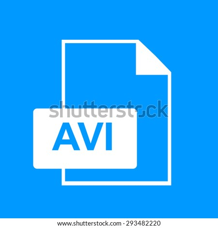 avi file icon. Flat design style eps 10 - stock vector