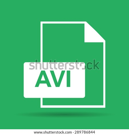avi file icon. Flat vector illustrator Eps 10 - stock vector