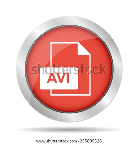 avi file icon. vector illustrator Eps 10 - stock vector