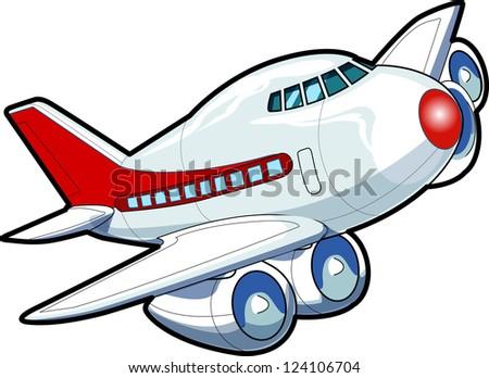 Aviation passenger plane - stock vector