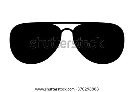 Aviator Sunglasses Shades Protective Eyewear Flat Stock Vector