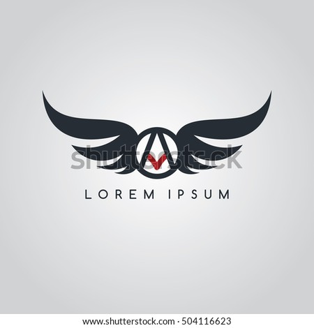 aviator symbol logo logotype theme vector illustration