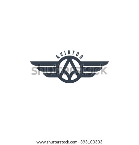 aviator symbol - logotype theme
