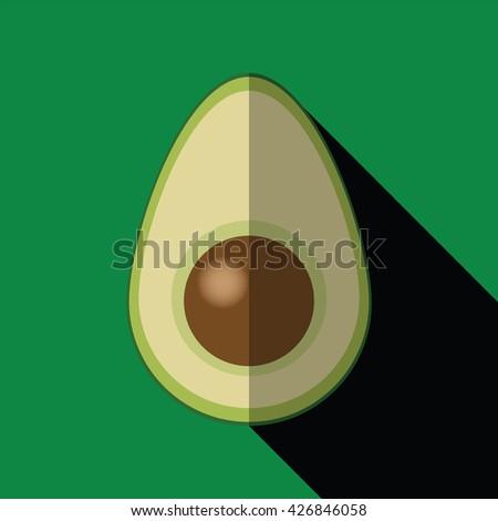 Avocado Flat Icon - stock vector