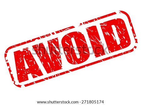 Avoid red stamp text on white - stock vector