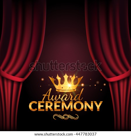 Award ceremony stock images royalty free images vectors award ceremony design template award event with red curtains performance premiere ceremony design pronofoot35fo Images
