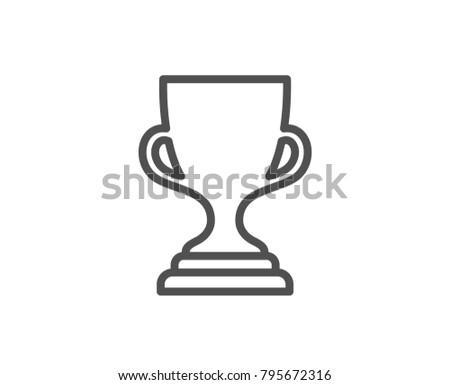 Award Cup Line Icon Winner Trophy Stock Vector 795672316 Shutterstock