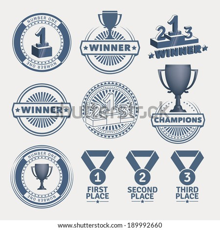 Award design elements. EPS10. - stock vector