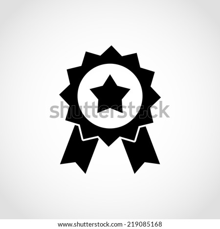 Award Icon Isolated on White Background - stock vector