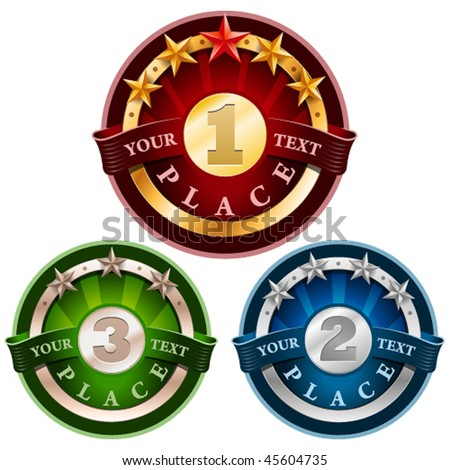 Award labels. Vector Illustration - stock vector