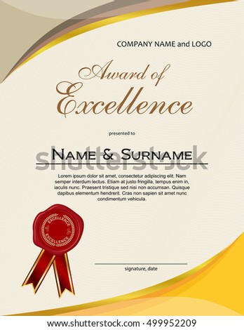 Award excellence wax seal ribbon portrait stock vector royalty free award of excellence with wax seal and ribbon portrait version thecheapjerseys Image collections