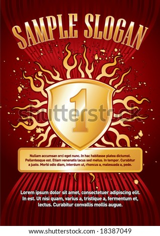 Award Poster. Just place your own texts and titles. - stock vector