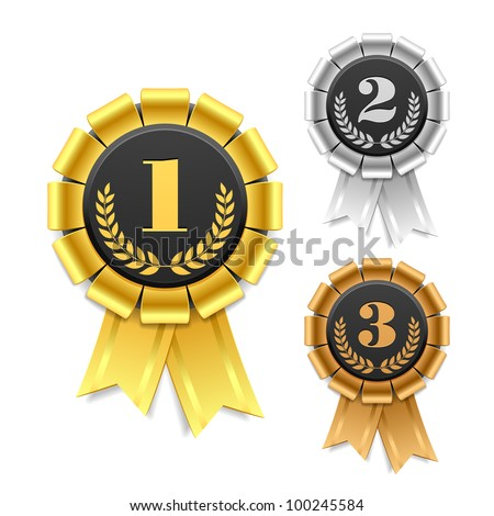 Award ribbon. Vector. - stock vector