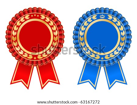 Award rosette design - vector - stock vector