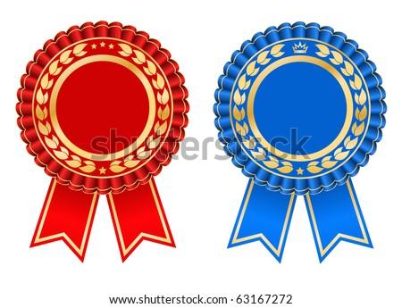 Award rosette design - vector - stock vector