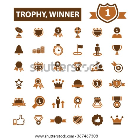 award trophy, awards icons, award concept, achievement, award ribbon, trophy, prize  icons, signs vector concept set for infographics, mobile, website, application  - stock vector