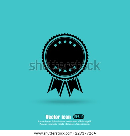 award  vector icon - stock vector