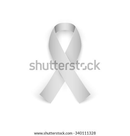 Awareness ribbon isolated on white background. Vector illustration - stock vector