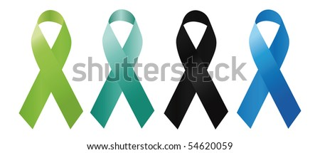 awareness ribbons - stock vector