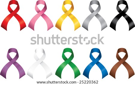 Awareness Ribbons Set More ribbons in portfolio  - stock vector