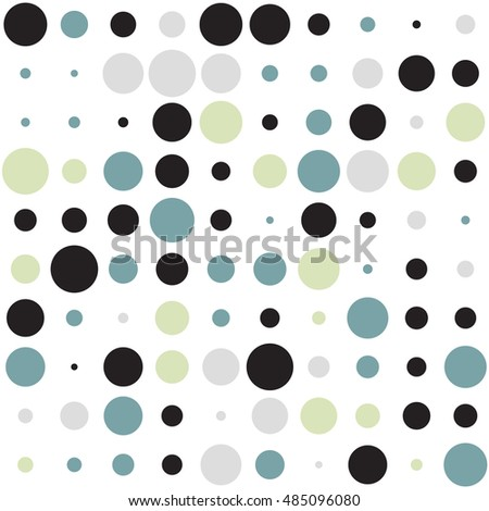 Awesome dot pattern with colorful circles