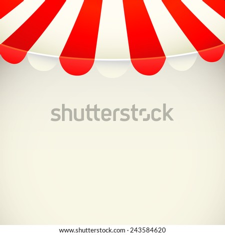 Awning background - vector illustration - stock vector