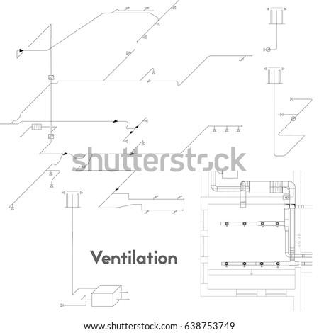 Axonometric View Ventilation System Vector Design Stock-Vektorgrafik ...