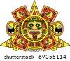aztec face - stock vector
