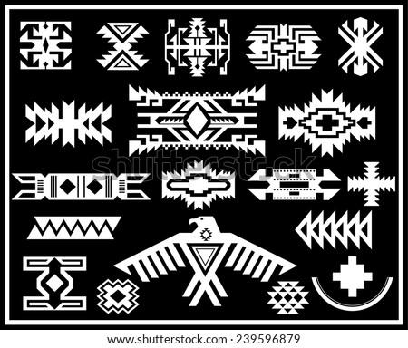 Aztec Navajo Indian American Vector Pattern Stock Vector