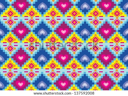aztec navajo  vector pattern - stock vector