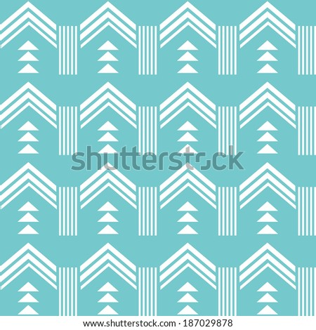 Aztec pattern mint background - stock vector