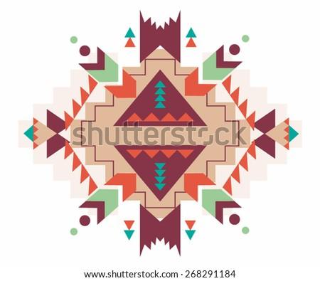 Aztec print vector pattern background - stock vector