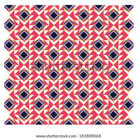 aztec  repeated pattern tile in swatches - stock vector
