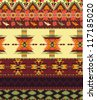 Aztec seamless pattern - stock photo