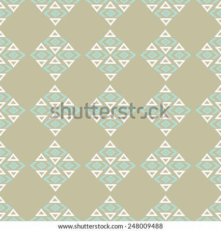 Aztec tribal art seamless pattern. Ethnic Mexican print. Folk repeating background texture - stock vector
